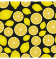 colorful lemon fruits and half fruits seamless vector image vector image