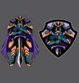 dark guardian mascot vector image vector image