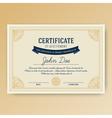 elegant certificate achievement vector image