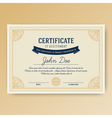Elegant certificate of achievement vector image