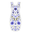 fashion dress template traditional russian vector image vector image