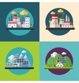 Flat design ecology concept vector image vector image