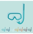 Flat design mask vector image vector image
