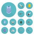 flat icons bulletproof gem parchment and other vector image vector image