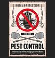 flies pest control flypaper desinsection service vector image vector image