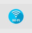 free wifi icon connection zone wifi symbol radio vector image vector image