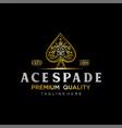 gold spade luxury logo heart ace