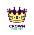 golden crown icon or logo design vector image