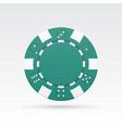 green casino chip vector image vector image