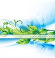 green leaf vector image vector image