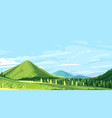 green mountains hiking trail vector image vector image