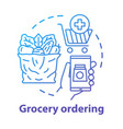 grocery ordering service concept icon vector image vector image
