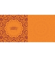 Henna orange antique banner template Mehndi vector image vector image