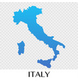 italy map in europe continent design vector image vector image
