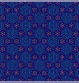 jewish star blue gold pattern vector image