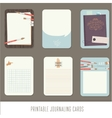 Journaling cards notes stickers labels tags vector image vector image