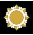 medal award icon gold star order vector image vector image