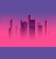 minimalist a skyscrapers vector image
