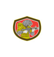 Navy Seal With Armalite Rifle Shield vector image vector image