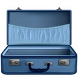 open suitcase blue isolated on white background vector image vector image