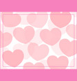 pink heart frame background vector image vector image