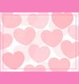 pink heart frame background vector image