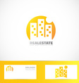 Real estate building moon logo vector image