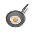 Realistic Fried egg vector image