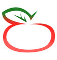 red apple logo vector image