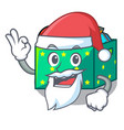 santa children toy boxes isolated on mascot vector image