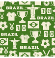 Seamless repeat pattern with Brazilian symbols vector image vector image