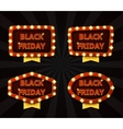 Set of banners with glowing lamps for Black friday vector image vector image