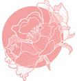 simple clip art peony flower image vector image