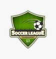 soccer logo template football logotype emblem vector image vector image
