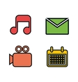 social media concept flat icons vector image vector image
