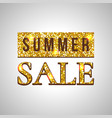 summer sale glitter text on green background vector image