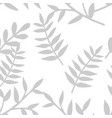 tile tropical pattern with grey exotic leaves vector image vector image
