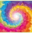 triangular tornado color background vector image vector image