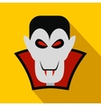 Vampire dracula flat icon vector image