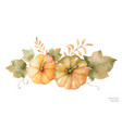 Watercolor autumn bouquet of leaves