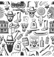wild west and cowboy western seamless pattern vector image