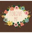 Forgive me Postcard vector image
