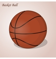 Basket ball isolated on a pink background Simple vector image