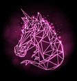 abstract polygonal fantasy animal unicorn
