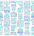 advertising seamless pattern with thin line icons vector image vector image