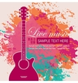 banner with an acoustic guitar vector image vector image