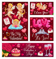be my valentine hearts love balloons and flowers vector image