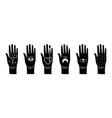 black magic hands vector image vector image