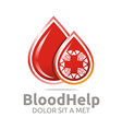 blood help medical donors healthy symbol vector image