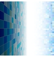 Blue mosaic copyspace vector image vector image